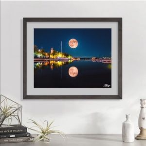 New original art Lake Ontario Strawberry Moon